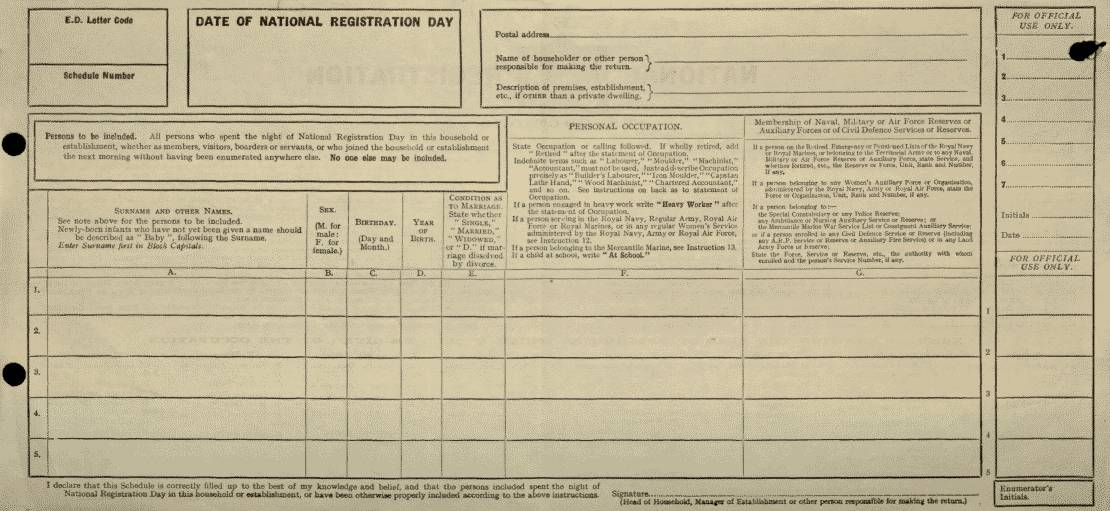 The 1939 national identity card click here to see a sample blank registration form yadclub Image collections